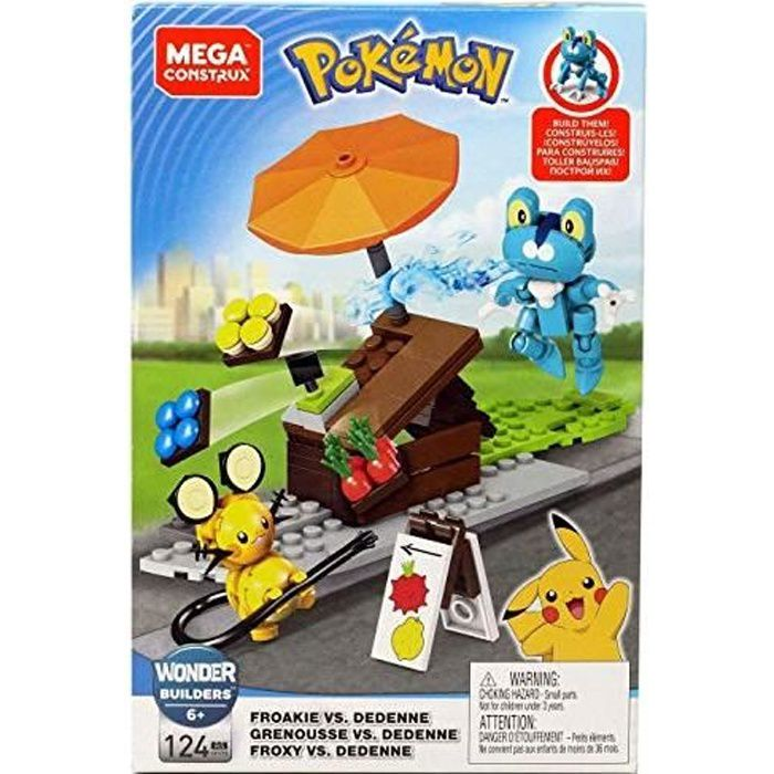 Mega Construx Pokemon, Combat Grenousse Contre dedenne, Jeu de Construction, 124 Pièces, pour Enfant Dès 6 Ans, Gfv78 GFV78