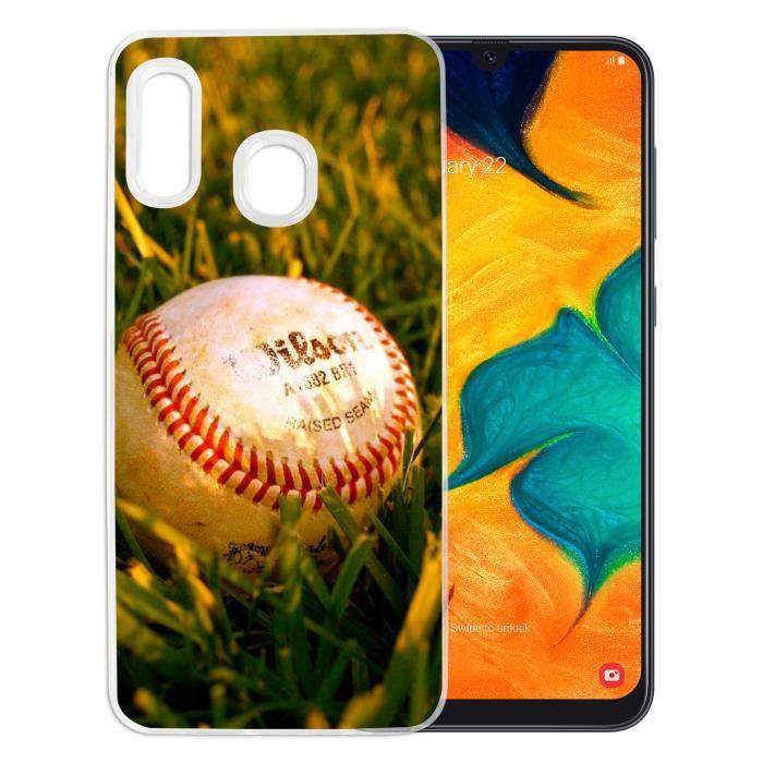 Coque pour Samsung Galaxy A20e - Baseball. Accessoire pour telephone, coque rigide de protection