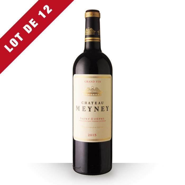Lot de 12 - Château Meyney 2015 AOC Saint-Estèphe - 12x75cl - Vin Rouge