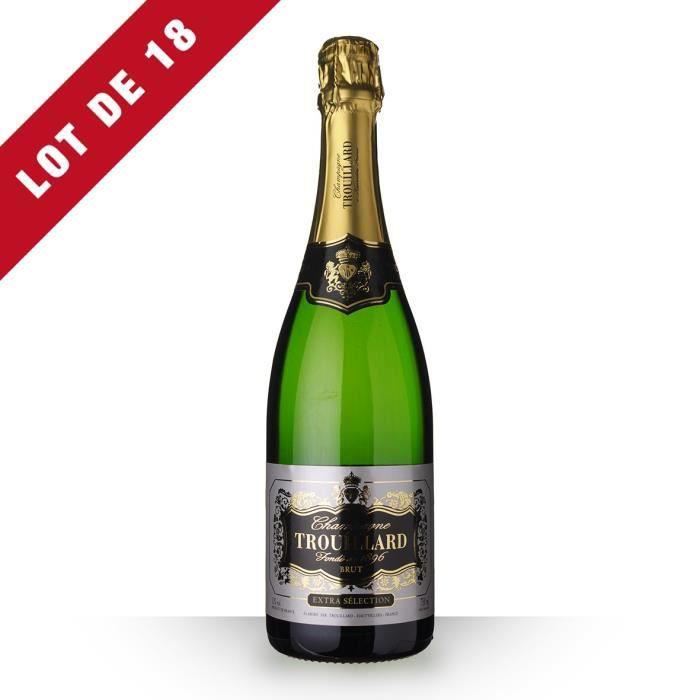 18X Trouillard Extra Sélection Brut 75cl - Champagne