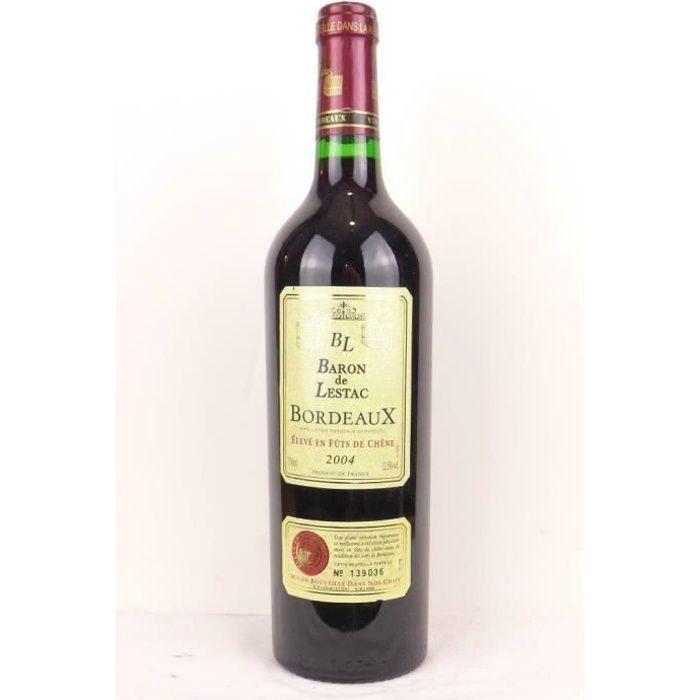 bordeaux baron de lestac fût de chêne rouge 2004 - bordeaux