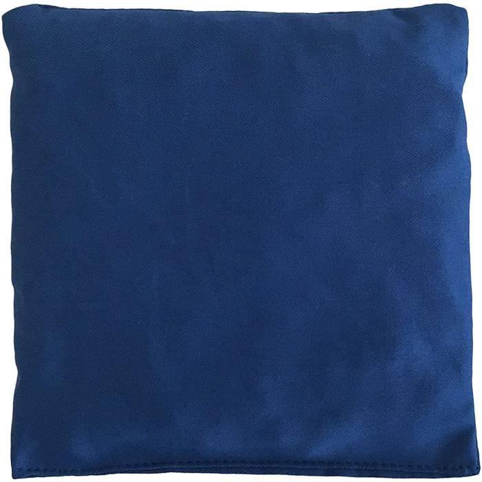 Coussins chauffants Coussin aux noyaux de cerises - Bouillotte sèche 12x12cm - Bleu - Coton bio - Coussin thermique- Cha 754432