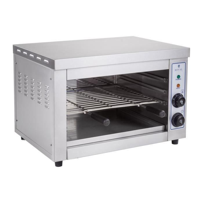 Toaster Professionnel Salamandre de cuisine Royal Catering RCES-580H (3.250W, 42,5x58x39,5cm, 1 élément chauffant infrarouge)