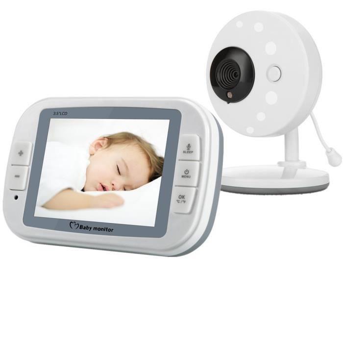 BABY PHONE - ECOUTE BEBE,Alarme électronique bébé sans fil 852 'lcd IR, moniteur de température nocturne, berceuses vidéo intercoms