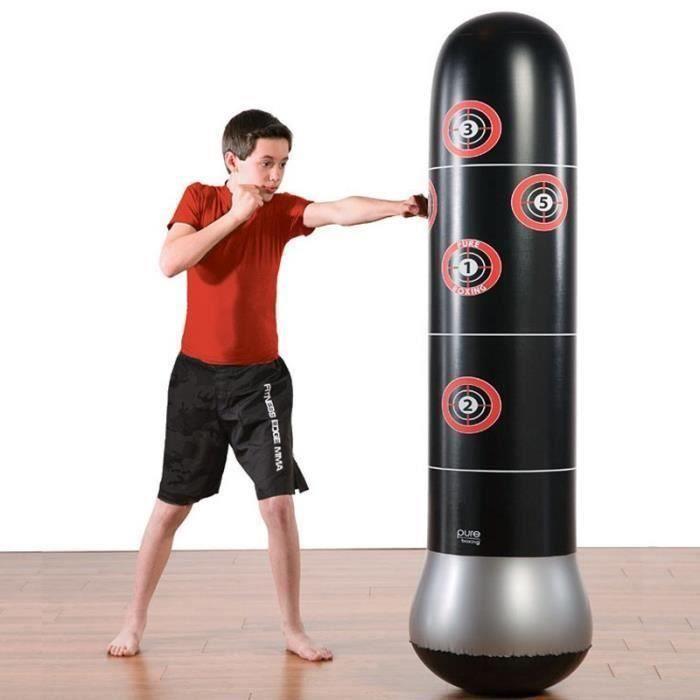Sac de Frappe Sport 160 cm Autonome de Boxe Culbuteur d'entraînement Gonflable De Boxe Pression pour Adultes Enfants
