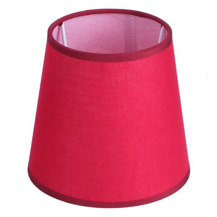 HURRISE Housse de lampe E14 Abat-jour lustre en tissu pur couleur pour applique murale chevet housse pour lampe de table(Rouge )