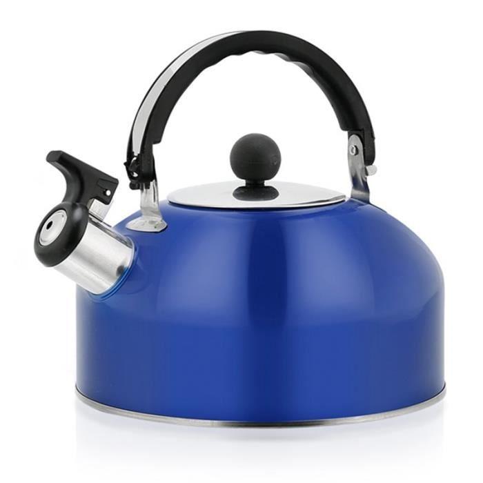 Carafes d'eau,Bouilloire à thé cuisinière sifflement théière en acier inoxydable Pots d'eau chaude pour cuisinière - Type Blue