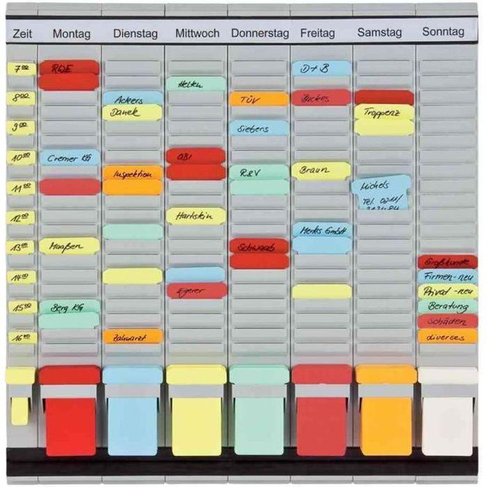 tableau planning à fiches OfficePaner, 7 modules, 47x49cm