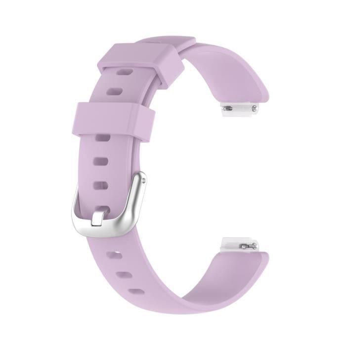 Bracelet Pour Montre Connectée Pour Fitbit Inspire 2 Tpe Strond Start Start De Remplacement [Taille: S] -Violet Clair