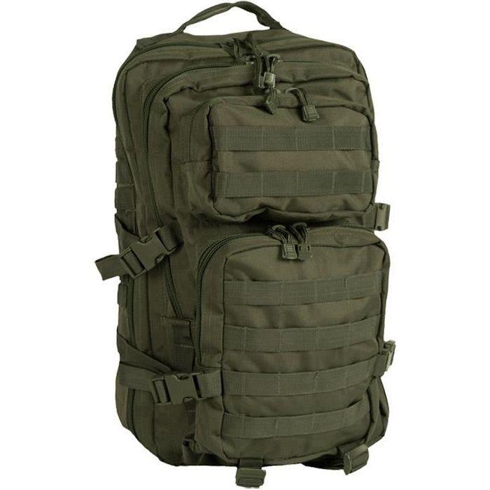 Mil-Tec Molle US Assault Pack Grand Olive - Homme