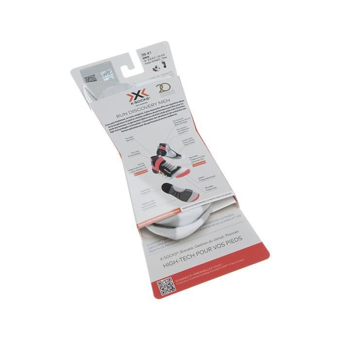 Xsocks - Chaussette Courtes - 1 paire - Thermo-régulante - Running - Mythlan - Blanc - Run Discovery Men - Homme #3747_8439