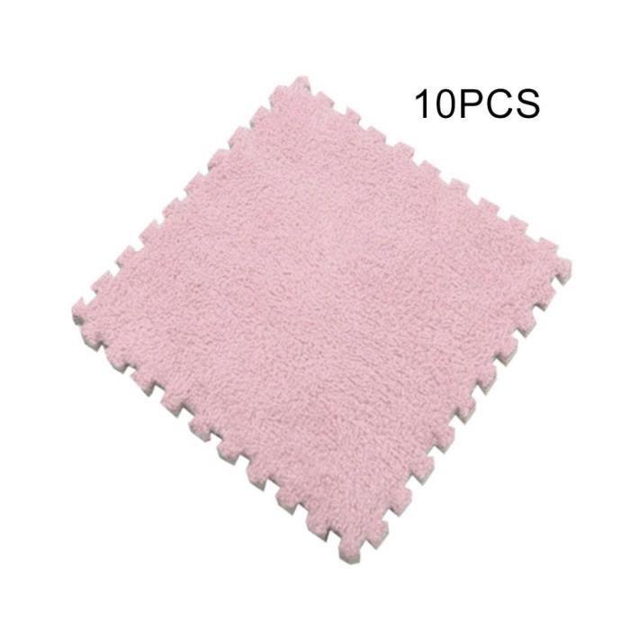 [10 pcs] Bébé Escalade Tapis Ménage Protection de L'environnement Eva Mousse Tapis Bébé 30 * 30 CM rose