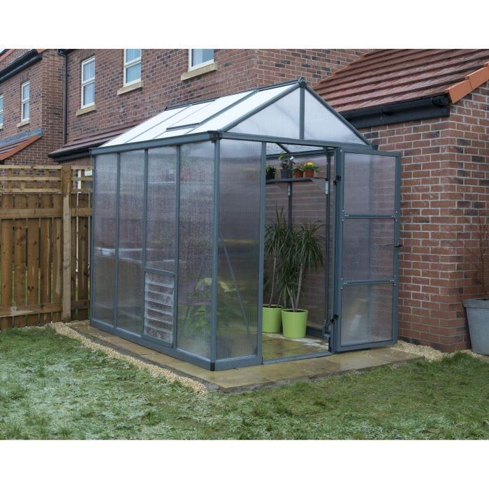 PALRAM Serre de jardin Glory 4,5 m² - Aluminium et polycarbonate - Double parois
