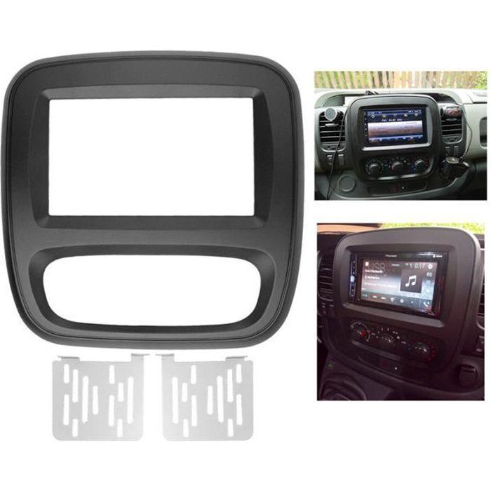 Kit de Tableau de Bord de Panneau de DVD de Fascia D'Autoradio 2Din pour Renault Trafic Opel Vivaro 2015 Up Panneau de Tableau de