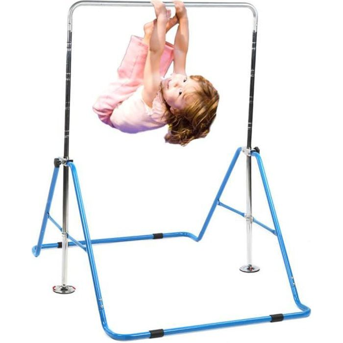 Zerone Barres horizontales pour enfants Barre d'entraînement de gymnastique à hauteur réglable