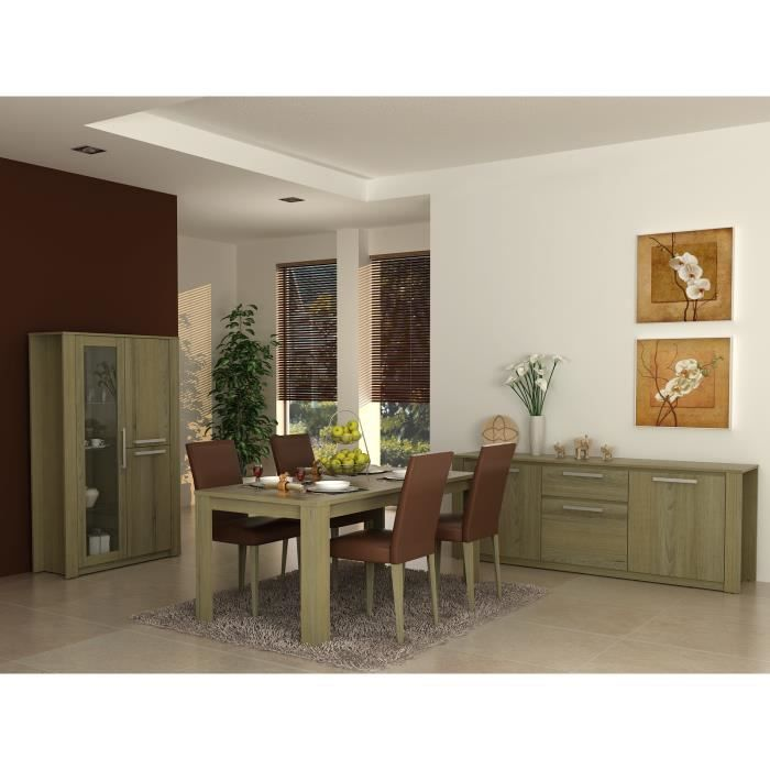 salle a manger bahut vitrine table achat vente salle. Black Bedroom Furniture Sets. Home Design Ideas