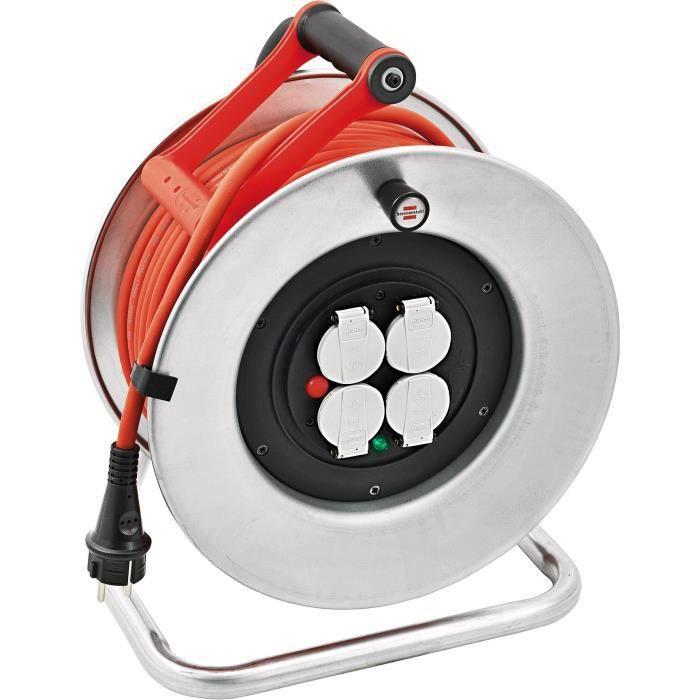 Brennenstuhl 1207951 Silver XL Enrouleur de c/âble /électrique IP44 40 m H07RN-F 3G2,5