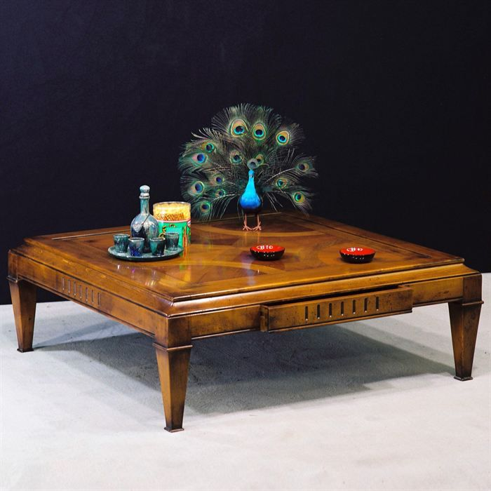 Table basse carr e savinias en merisier massif achat vente table basse ta - Table carree contemporaine ...