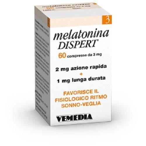 PACK NUTRITION SPORTIVE VEMEDIA MELATONIN DISPERT --- 60 tablets x 3 mg ti