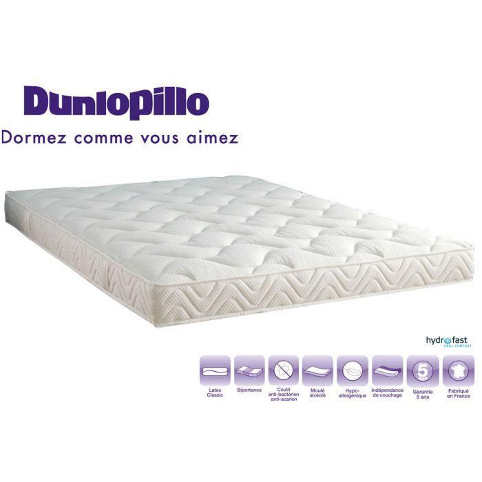 matelas dunlopillo 100 latex 90x190 ferme 79kg achat vente matelas cdiscount. Black Bedroom Furniture Sets. Home Design Ideas
