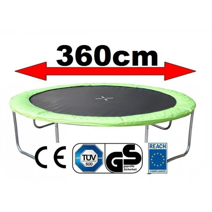 coussin de protection pour trampoline 360 cm vert achat. Black Bedroom Furniture Sets. Home Design Ideas