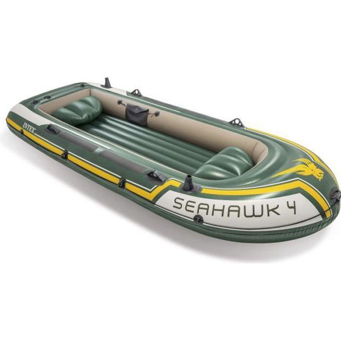 ANNEXE GONFLABLE INTEX Set Bateau Seahawk 4 - 4 personnes - Vert