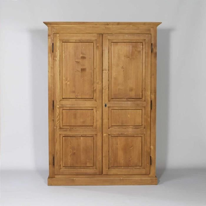 Meuble armoire demontable pin massif 2 portes bois for Meuble en pin massif
