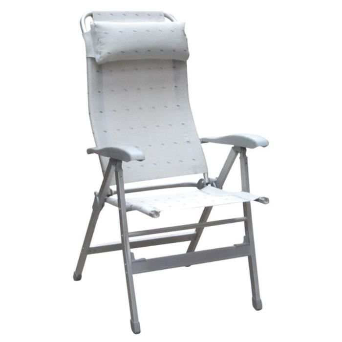 fauteuil aluminium confort maxi gris clair achat vente chaise de camping fauteuil confort. Black Bedroom Furniture Sets. Home Design Ideas
