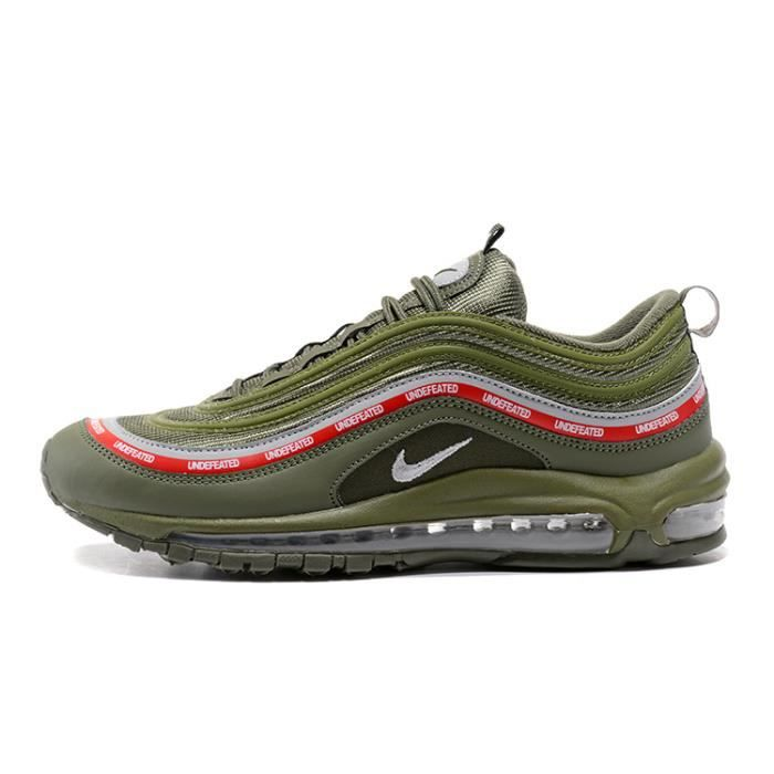 undefeated x nike air max 97 homme femme mixte chaussure de running vert vert achat vente. Black Bedroom Furniture Sets. Home Design Ideas