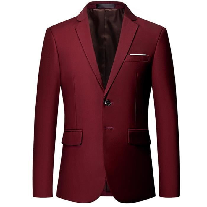 Veste de costume rouge bordeaux