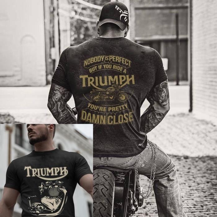 V/éritable T-shirt Triumph Motorcycles.