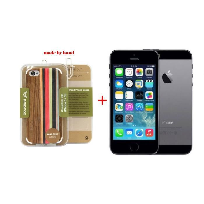 iphone 5s 16gb reconditionne a neuf noir get coque