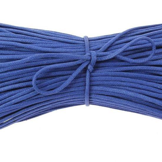 Lacets Ronds Coton Cir/é Couleur Bleu King Les lacets Fran/çais