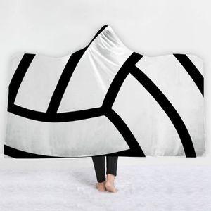 COUVERTURE - PLAID 150 x 200 cm,Couverture à capuche,Impression Baske