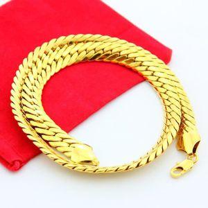 CHAINE DE COU SEULE Collier chaîne Hommes bijoux 18k jaune plaqué or c