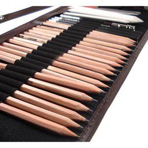 KIT DE DESSIN 29 pcs Crayons de Dessin Crayons Croquis Kit de Cr