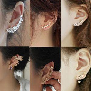 Boucle d'oreille Boucles D'Oreilles Cartilage Étoile Perles Strass