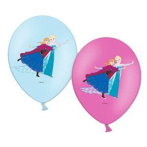 BALLE - BOULE - BALLON Sachet de 6 ballons la reine des neiges© .