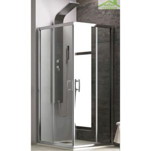 PORTE DE DOUCHE Parois de douche carrées NEW FLORA H 180cm 90x90x1