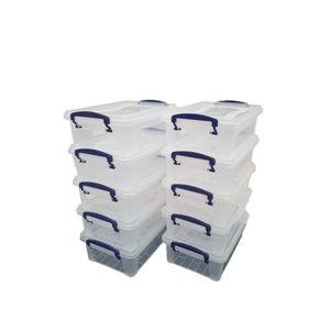 BOITE DE RANGEMENT Lot de 10 boîtes de rangement transparentes avec c