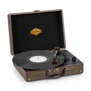 PLATINE VINYLE auna Peggy Sue Platine disque vinyle - Enceintes s