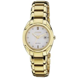 MONTRE Citizen Women's Analog White Dial Watch - Em0313-5