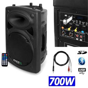 ENCEINTE ET RETOUR Enceinte DJ PA amplifiée 700w lecteur mp3 SLK-12A-