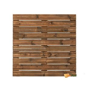 DALLAGE Dalle de terrasse en bois teinté motif droit 100