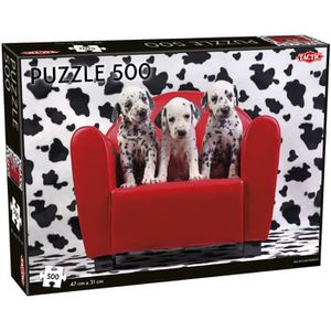 PUZZLE Tactic Dalmatian Puppies 500 pcs, Jigsaw puzzle, A