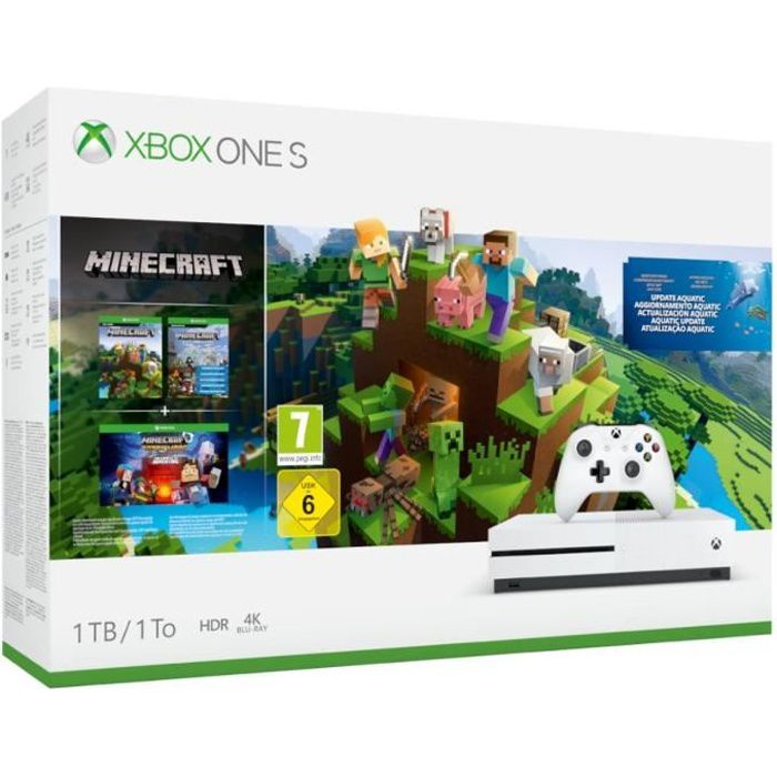 CONSOLE XBOX ONE Xbox One S 1 To Minecraft