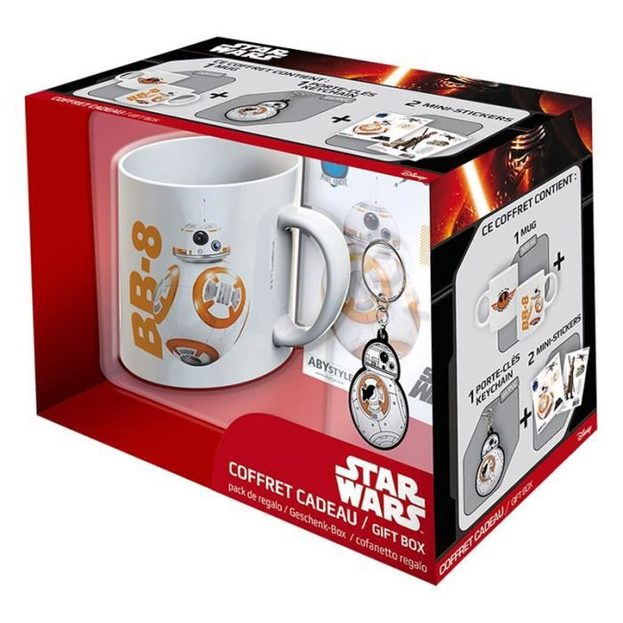 Pack Mug + Porte-clés + Sticker Star Wars - BB8 - ABYstyle