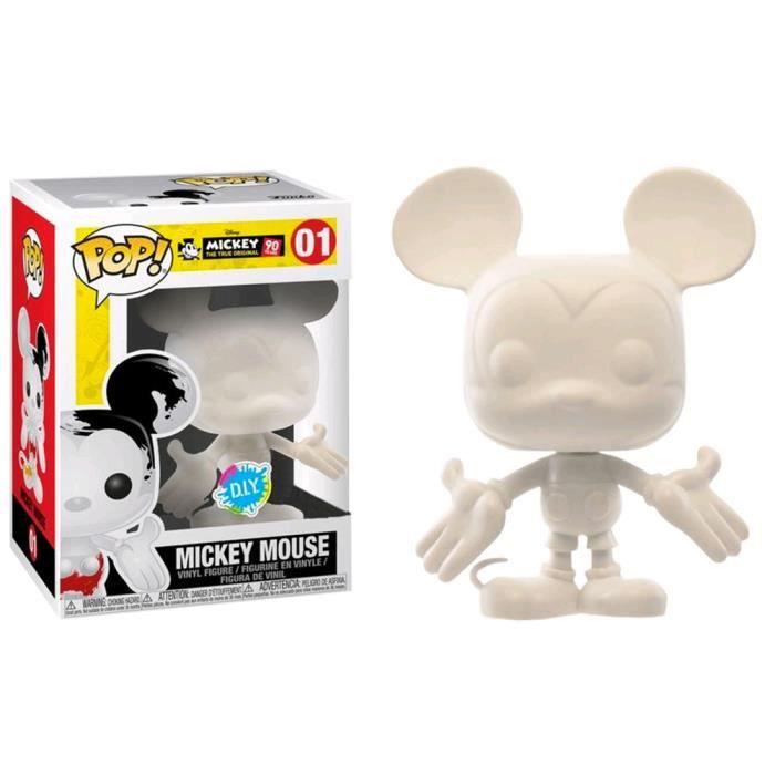 Mickey Mouse 90e Mickey Mouse (DIY) figurine Pop miniature exclusive aux États-Unis! Vinyle