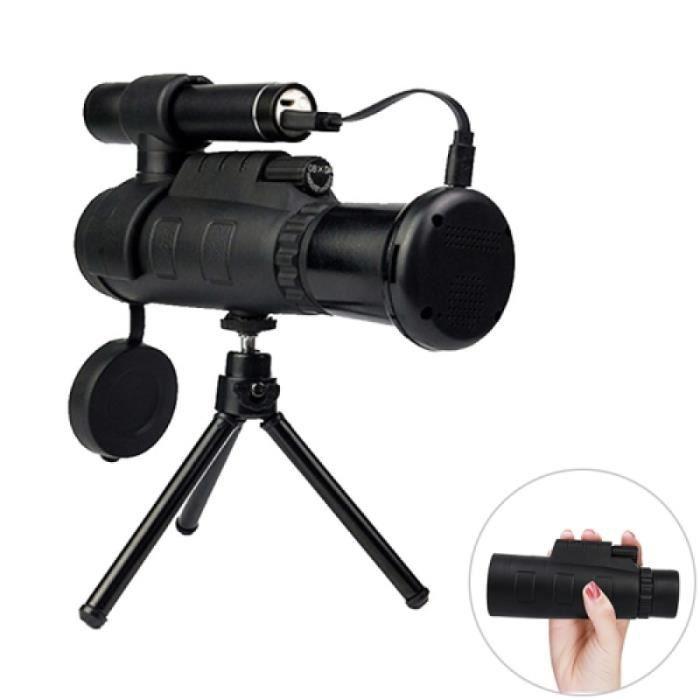Jumelle Optique - Télescope monoculaire infrarouge de vision nocturne de définition 12X portative élevée, assistance téléphonique /