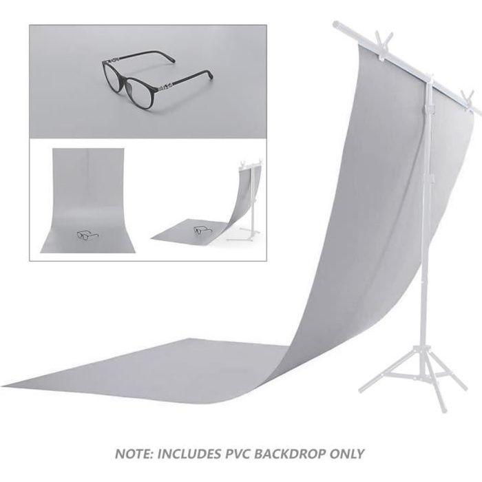 Toile de Fond Photo Gris Photographie Studio 130x60cm Grey Backdrop PVC